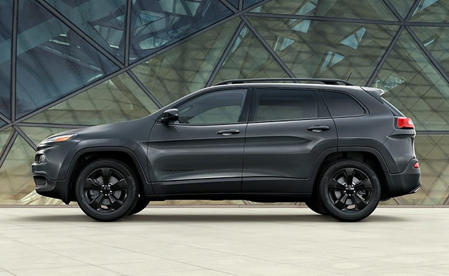 Gray 2016 Jeep Cherokee Side View