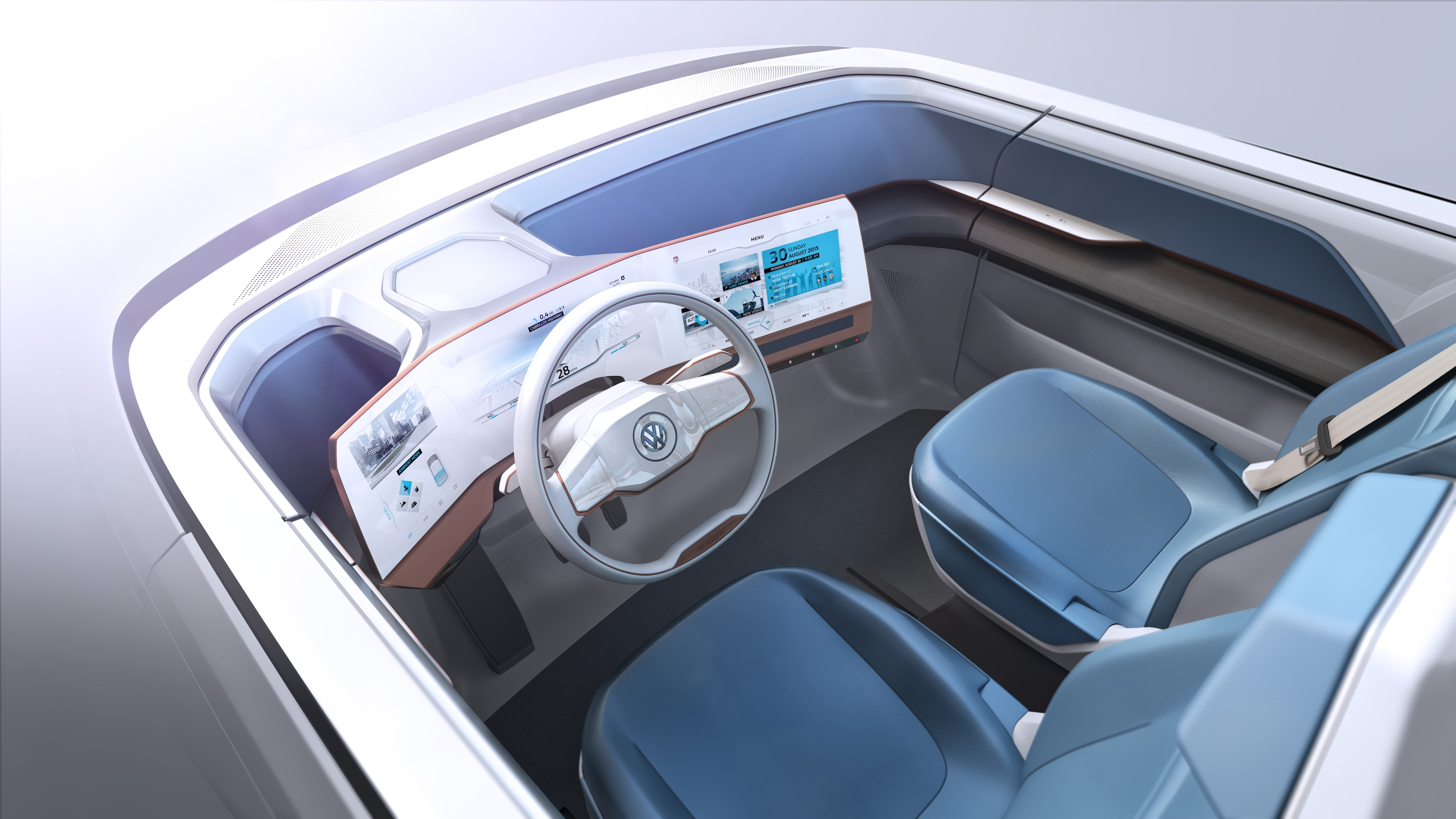 Volkswagen BUDD-e Interior Active Intro Display Infotainment Technology