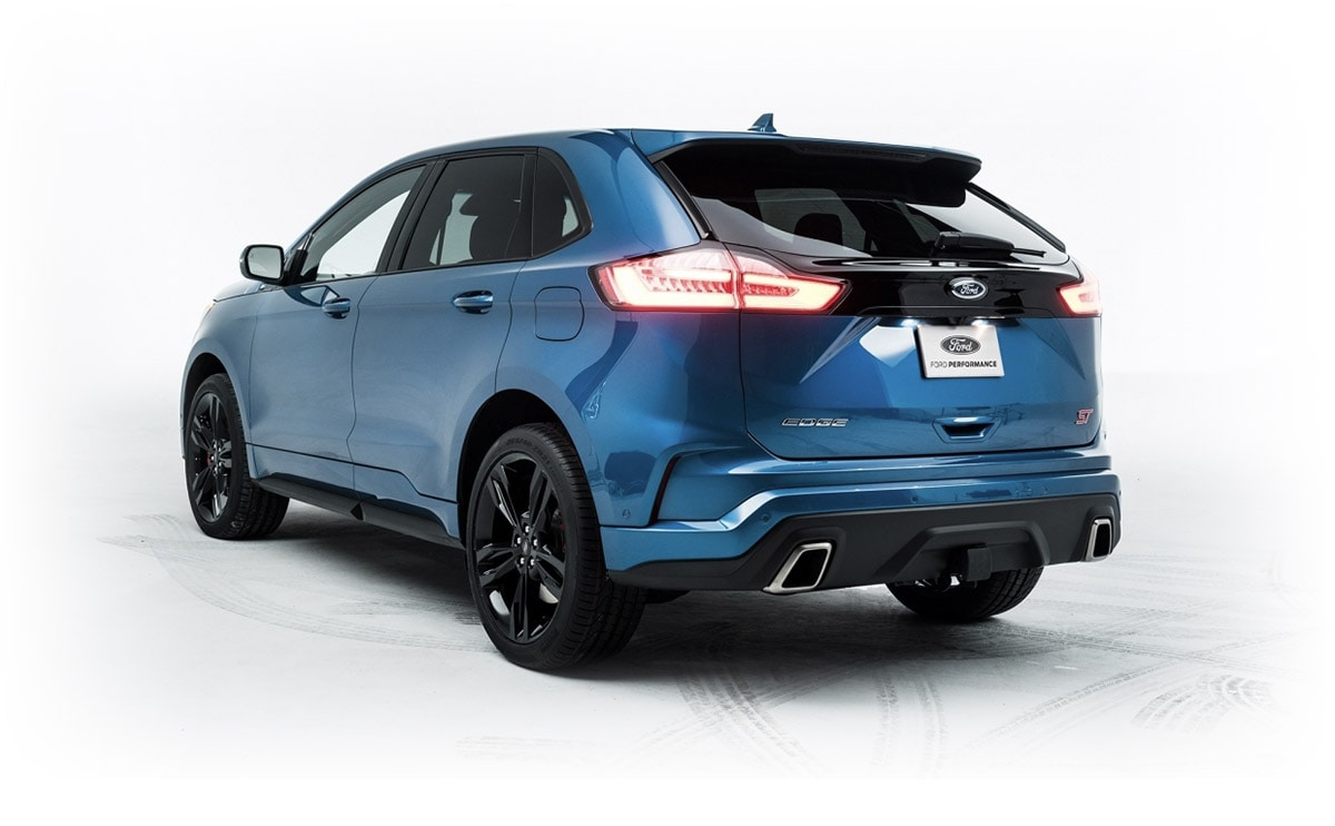 Blue 2019 Ford Edge ST