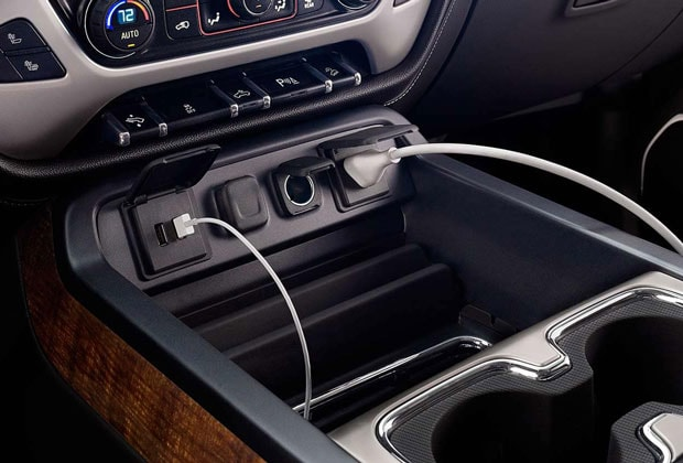 Outlets in the GMC Sierra