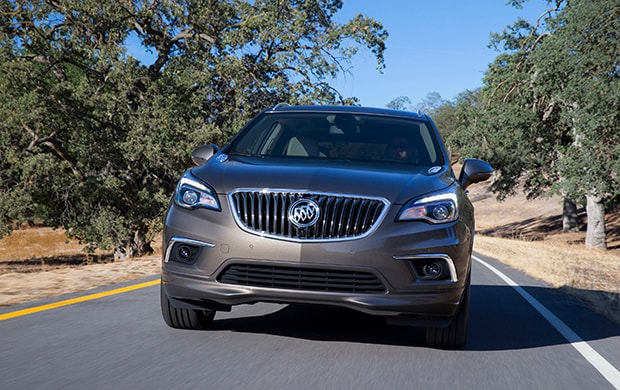 Gray Buick Envision Front Angle