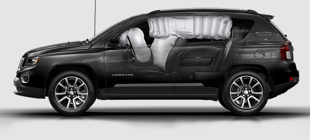 Jeep Compass airbags side view