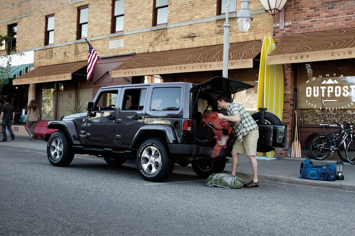 Jeep wrangler unlimited cargo space
