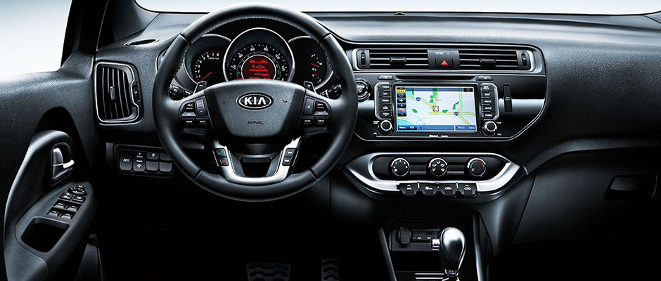 Front Dashboard of the Kia Rio
