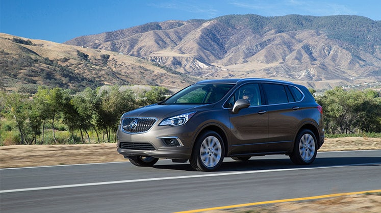 Gray Buick Envision Side Angle