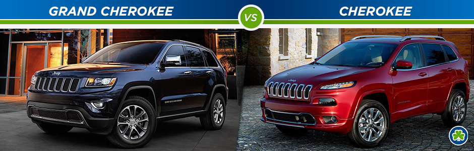 Jeep Cherokee Vs Grand Cherokee >> Jeep Cherokee Vs Jeep Grand Cherokee Pat Mcgrath Chrysler Jeep