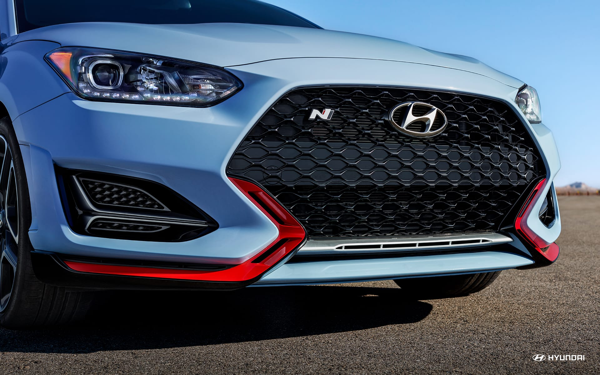 2019 Hyundai Veloster N badging on grille