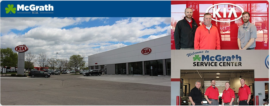 Kia dealership and staff