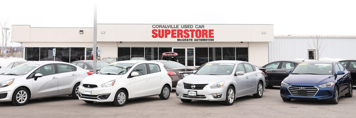 Coralville Used Car Superstore store front