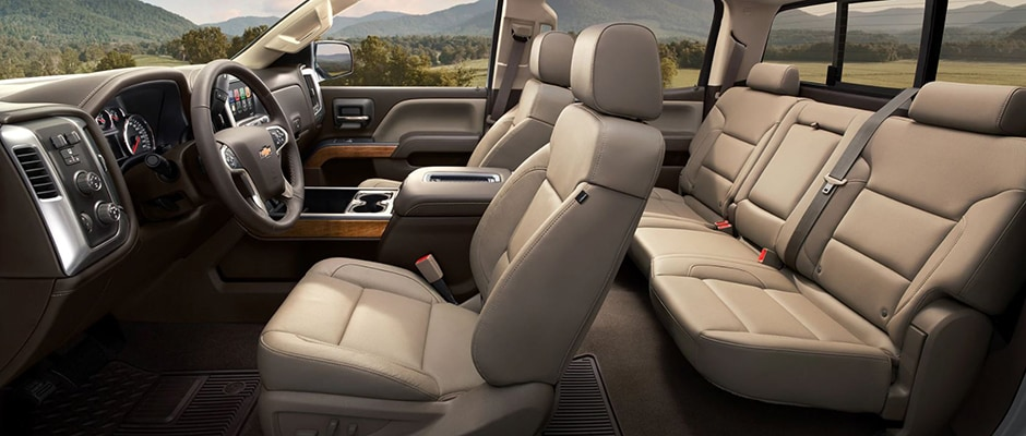 Interior Seating in the New Chevy Silverado 1500