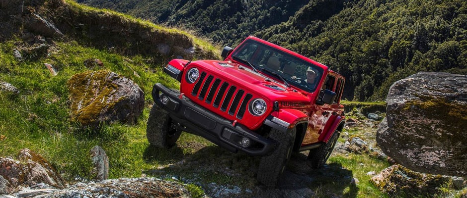 Red 2019 Jeep Wrangler Rubicon