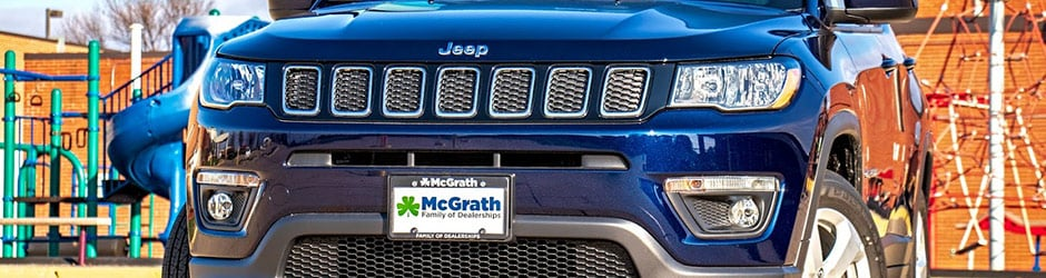 Grille on the Jeep Compass