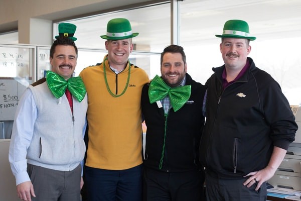 Our team celebrating St Patricks day