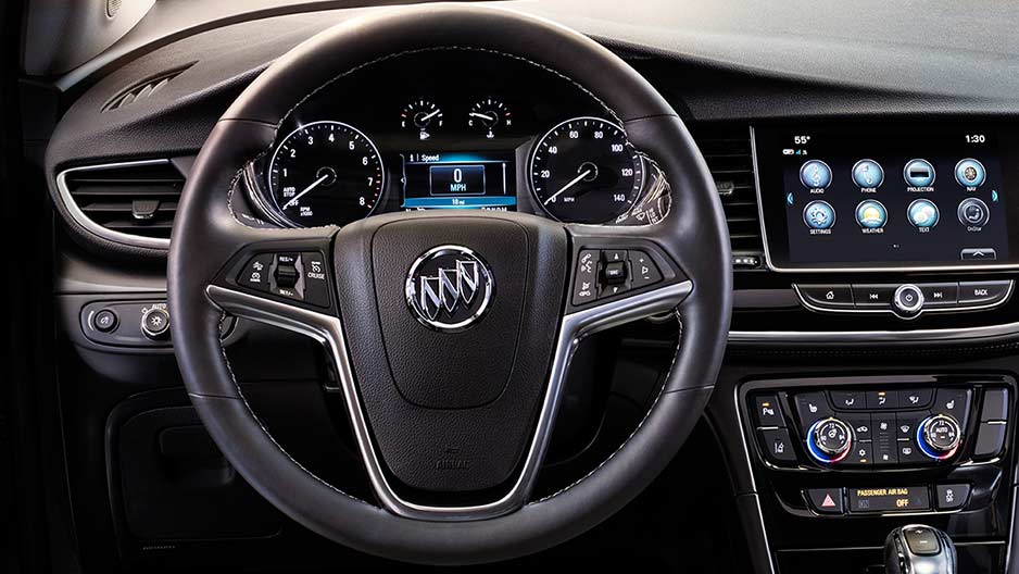 Buick Encore Dashboard and Steering wheel Image