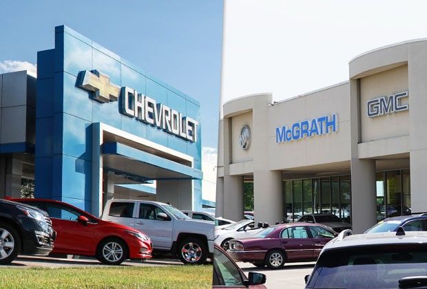 McGrath Chevyland and McGrath Buick GMC Cadillac Buildings