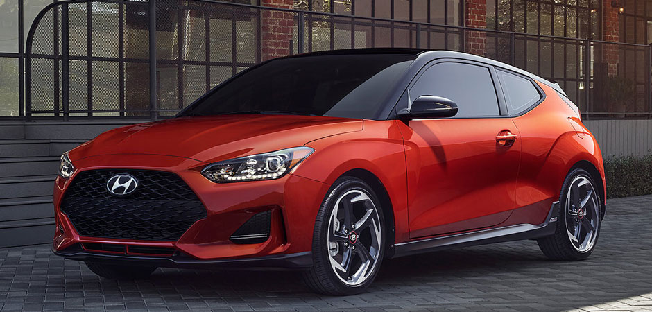 2019 Hyundai Veloster on the street
