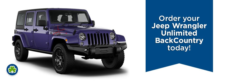 Purple Jeep Wrangler Back Country