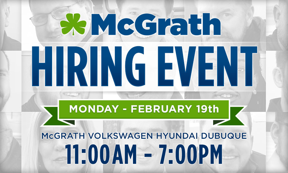 McGrath Family of Dealerships Sales Hiring Event!
