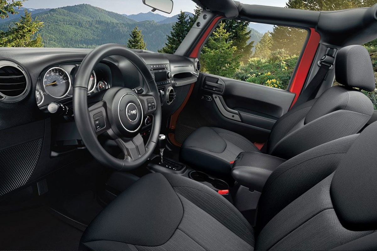 Jeep Wrangler with interior seating
