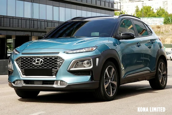 2019 Hyundai Kona Limited Driving down city block