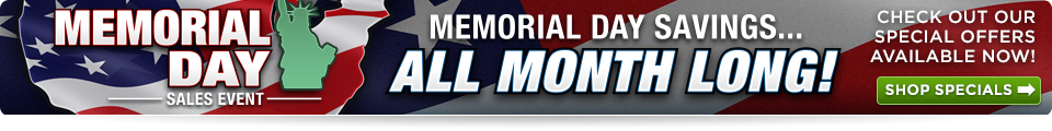 Memorial Day Sale Cedar Rapids