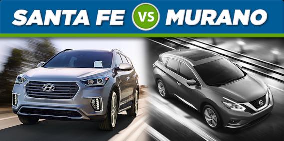 Nissan Rogue Vs Hyundai Santa Fe >> 2017 Hyundai Sante Fe Vs 2017 Nissan Murano Mcgrath Auto