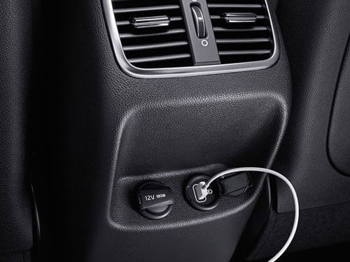 USB charging in the Kia Optima