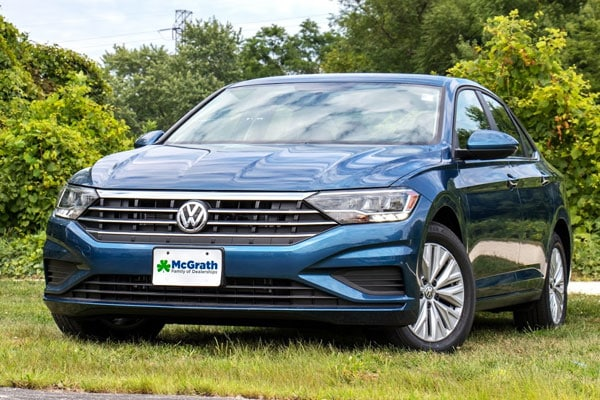 2019 Jetta parked in the grass