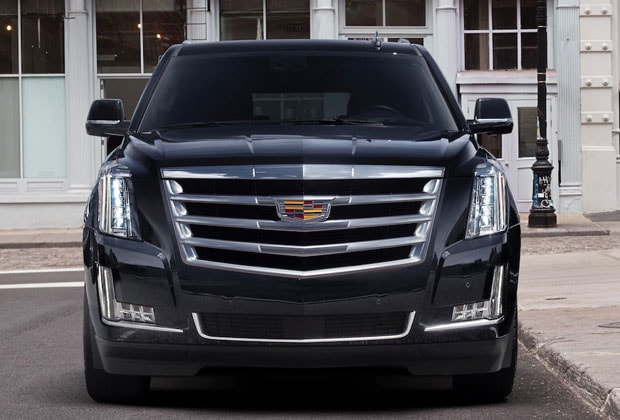 Front grille on the 2018 Escalade