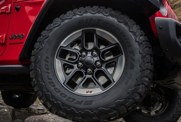 Tires on the 2019 Jeep Wrangler