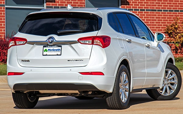 2019 White Buick Envision Back End Exterior