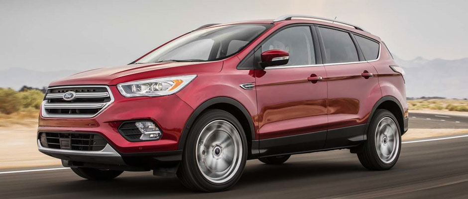 Red 2018 Ford Escape in Motion