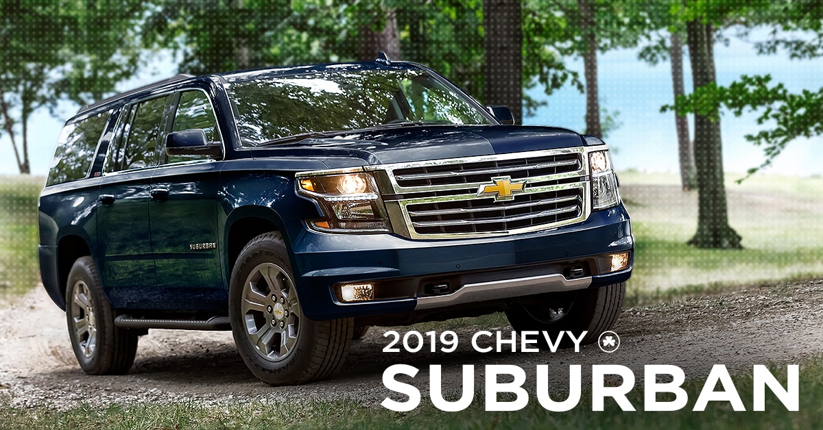 2019 Chevy Suburban Parked in the woods on gravel road