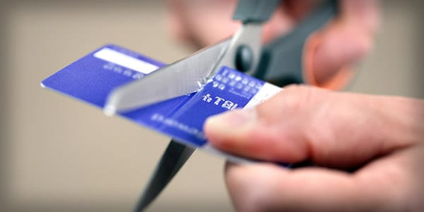 Cutting credit card