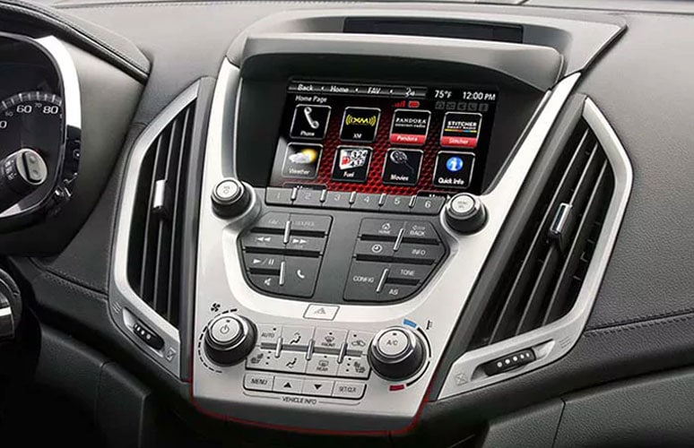 Toucscreen technology inside GMC Terrain