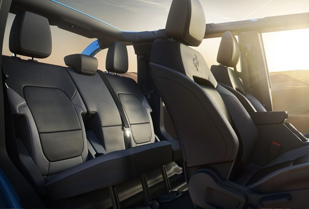 interior seating in the 2021 Bronco