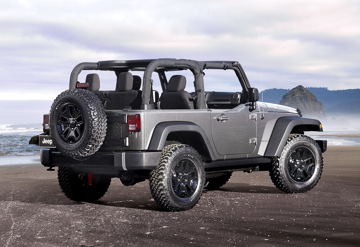 The Jeep Wrangler removable doors and top