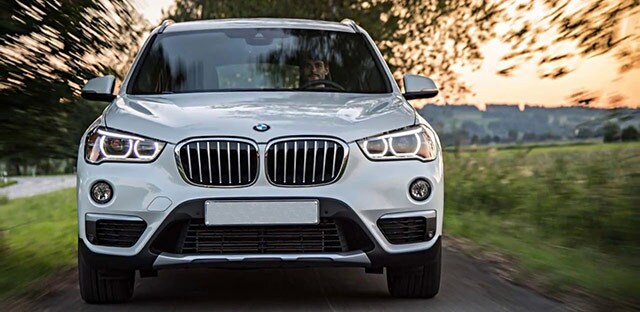 White BMW X1 Front View