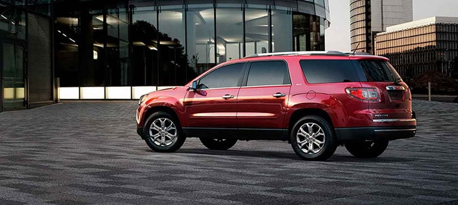 Red 2016 GMC Acadia Side View