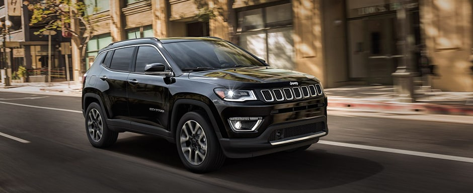Black Jeep Compass Front Angle