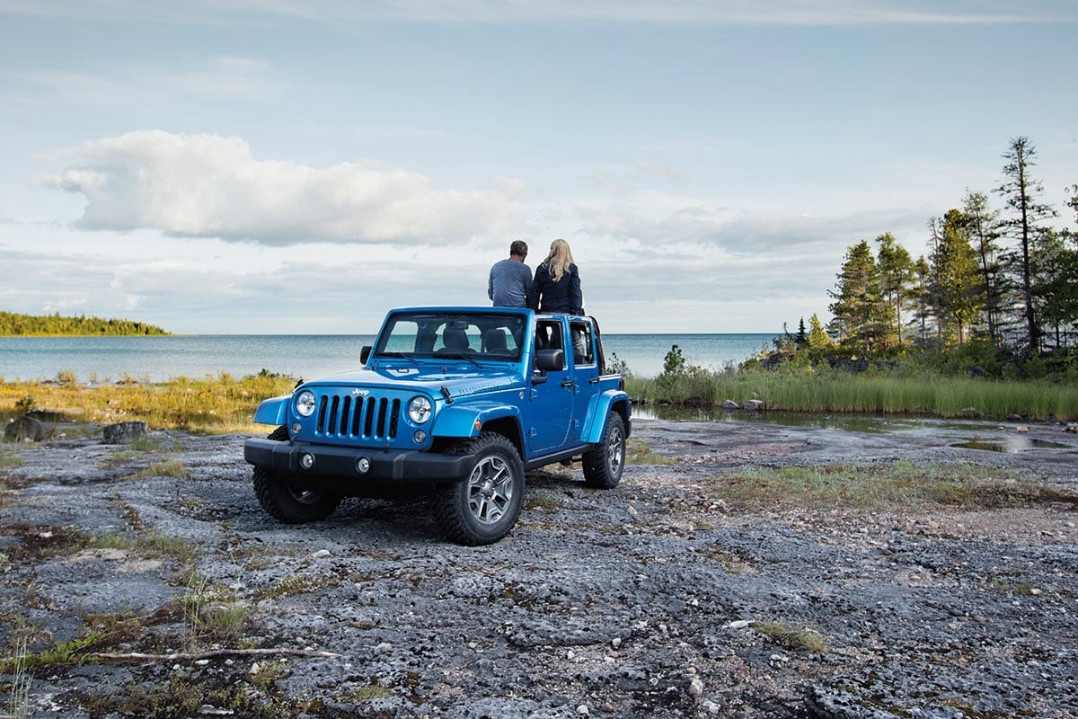 The Jeep Wrangler made for off-road adventures