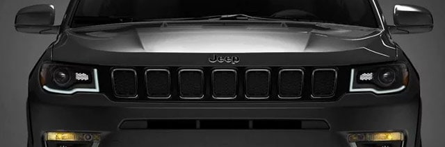 Black Jeep Font Head lights view