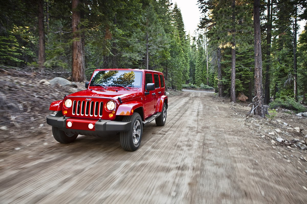 The Jeep Wrangler all-terrain vehicle