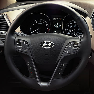 2017 Hyundai Santa Fe Sport Steering wheel Features