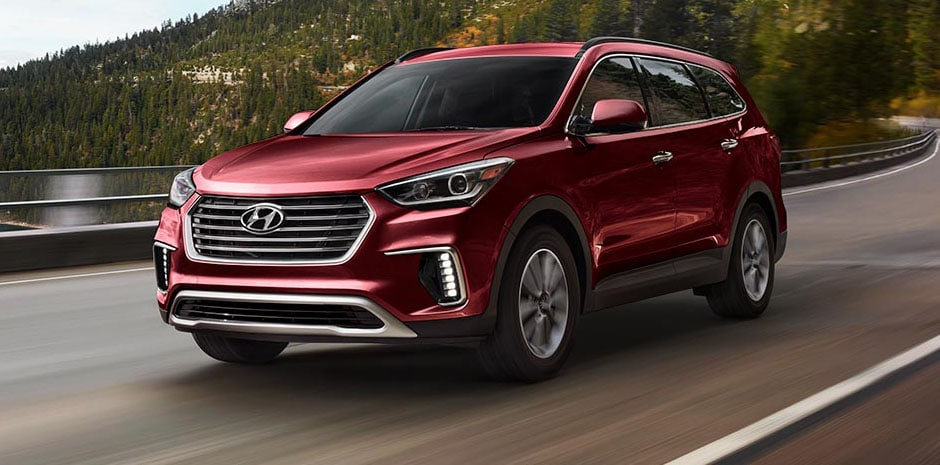 2017 Hyundai Santa Fe Regal Red Pearl
