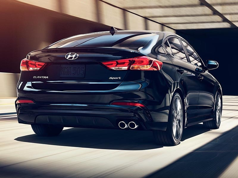 2017 Hyundai Elantra driving away