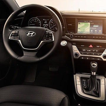 2017 Hyundai Elantra Steering Wheel Features and stereo