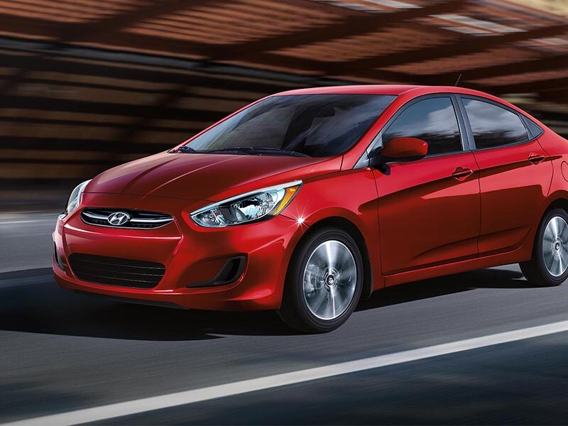 2017 Hyundai Accent driving down the street