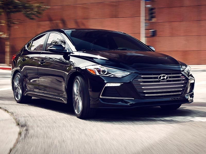 2017 Hyundai Elantra Driving down the Street