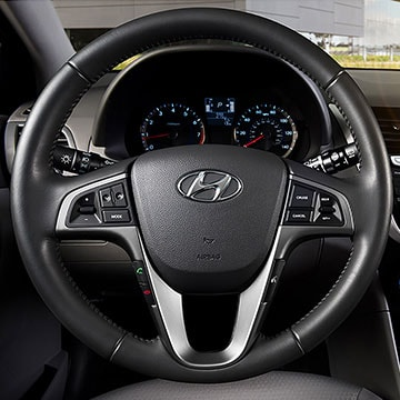 2017 Hyundai Accent Features on the Steering Wheel